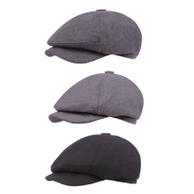 High Quality Cotton Linen Flat Newsboy Hat Peaked Cap Casual Fashion Solid Berets Outdoor UV Protection Driving Golf