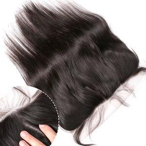 Image 5 - Rosabeest reta 28 30 40 Polegada 3 4 pacotes com rendas frontal barato remy brasileiro 100% tecer cabelo humano e fechamento
