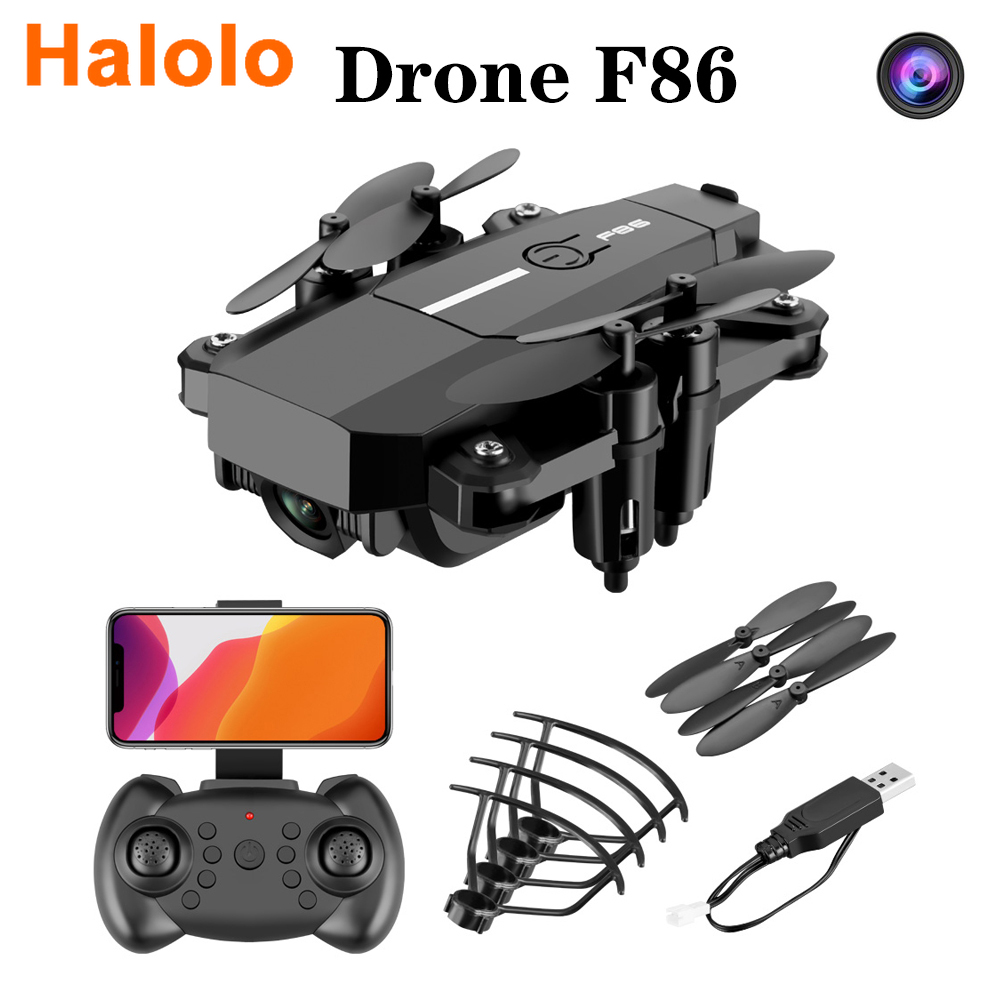 Halolo FPV Mini Drone HD 1080P 420p Cameras F86 Wifi Foldable Drones With Camera Hight Hold Mode RC Quadcopters Dron Gifts image