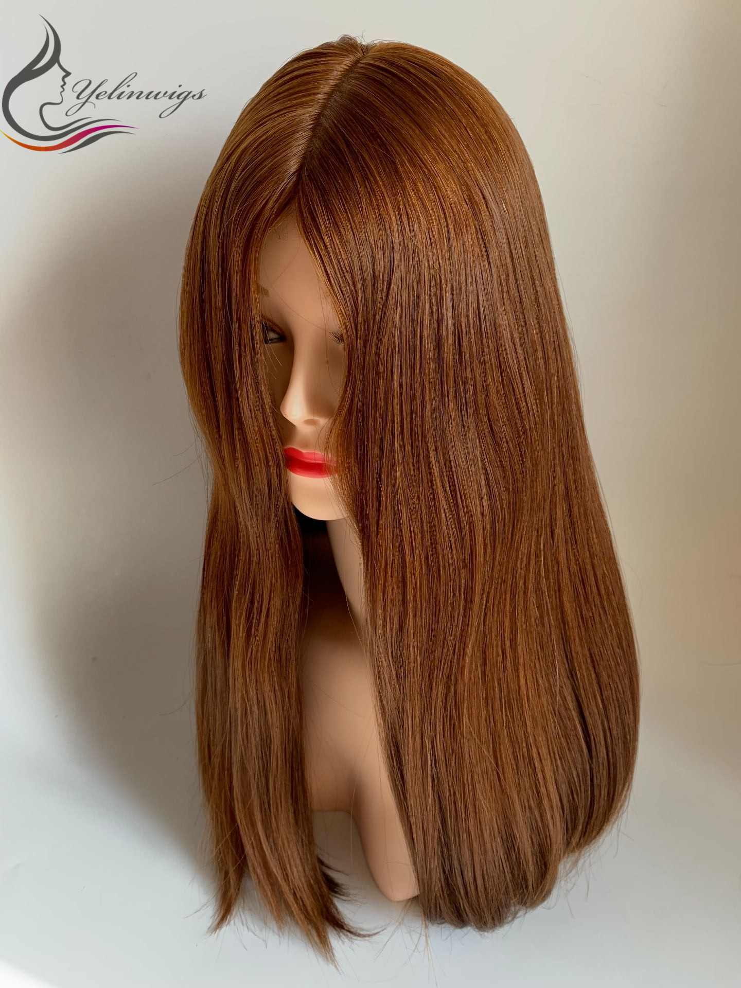 Customized Fashion Color Body European Virgin Hair Silk Top Jewish Wig Kosher Wig With Lace Front