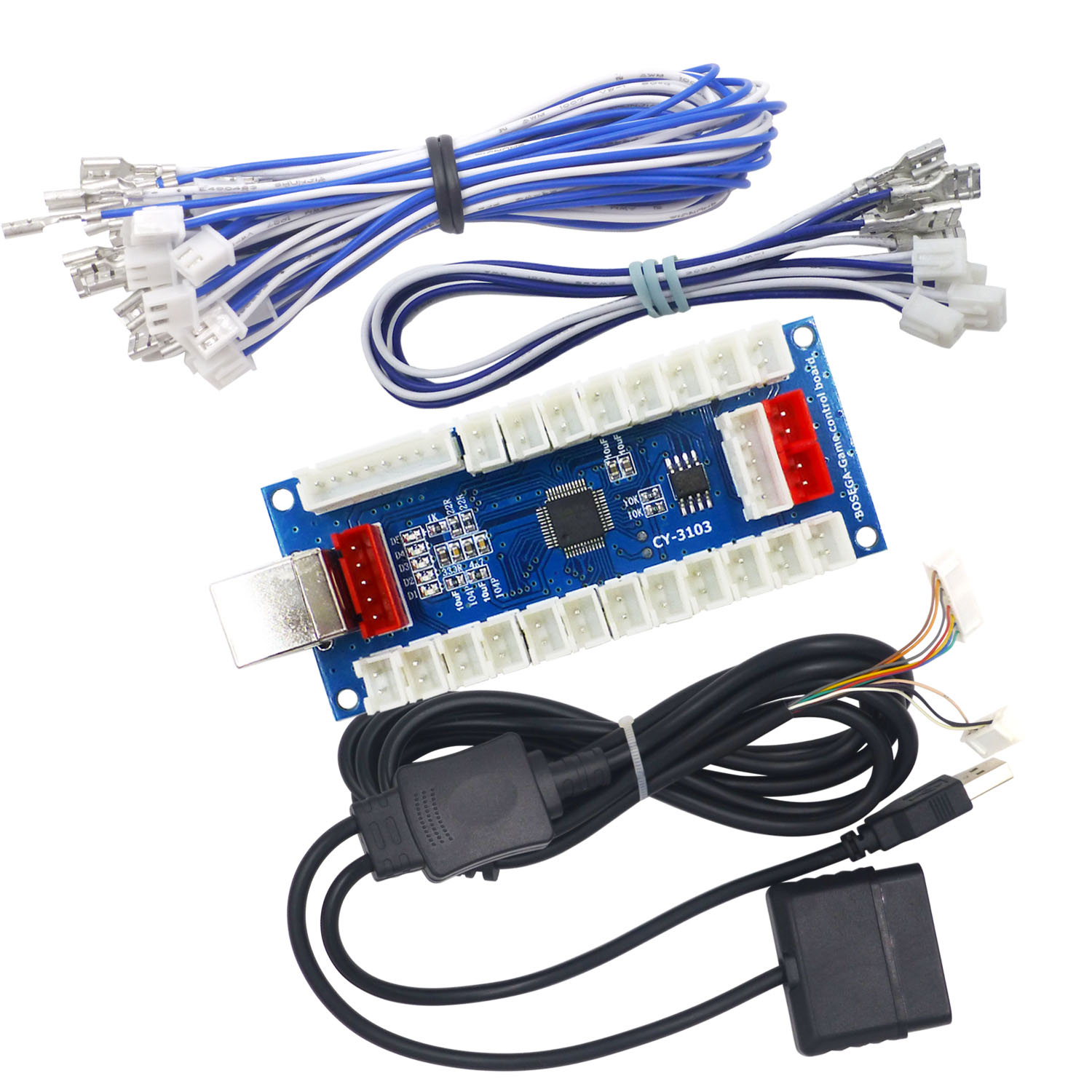 SJ@JX Arcade Controller PCB Board Encoder Zero Delay Joystick Button for PC Raspberry Pi PS2 PS3