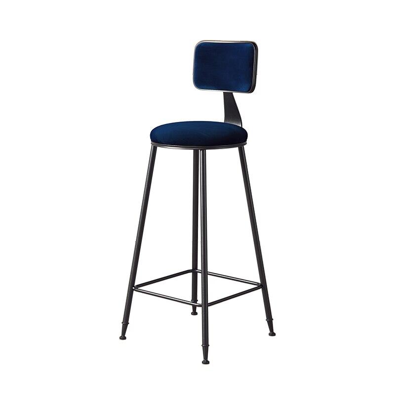 Northern Europe Bar Chair Ins Leisure Milk Tea Shop Bar Net Red Chair Coffee Shop Light Luxury Creative Backrest Bar Chair