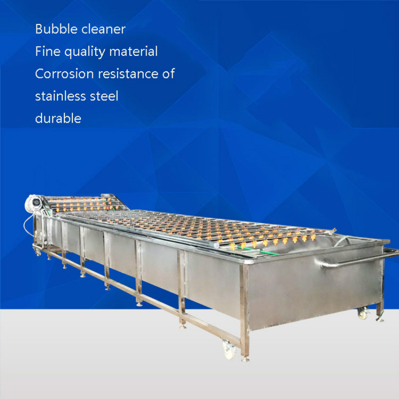 CAI68 Automatic Vegetable Bubble Cleaning Machine Fruit Spray High Pressure Bubble Cleaning Machine Multi-function Automatic