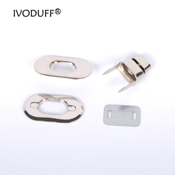 10xDIY Metal Purse Twist Lock, Replacement Shoulder Lock Bag Hardware Accessories,Silver Tone HandbagPurse Turn