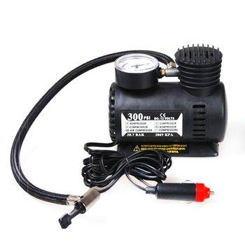 Przenośny do samochodu akcesoria samochodowe wytrzymały pojazd Mini kompresor powietrza 300 PSI pompka do opon 12V części samochodowe tanie i dobre opinie CN (pochodzenie) 13 5 Air Compressor Black 120x135x70mm 4 68x5 27x2 73in 2 75m