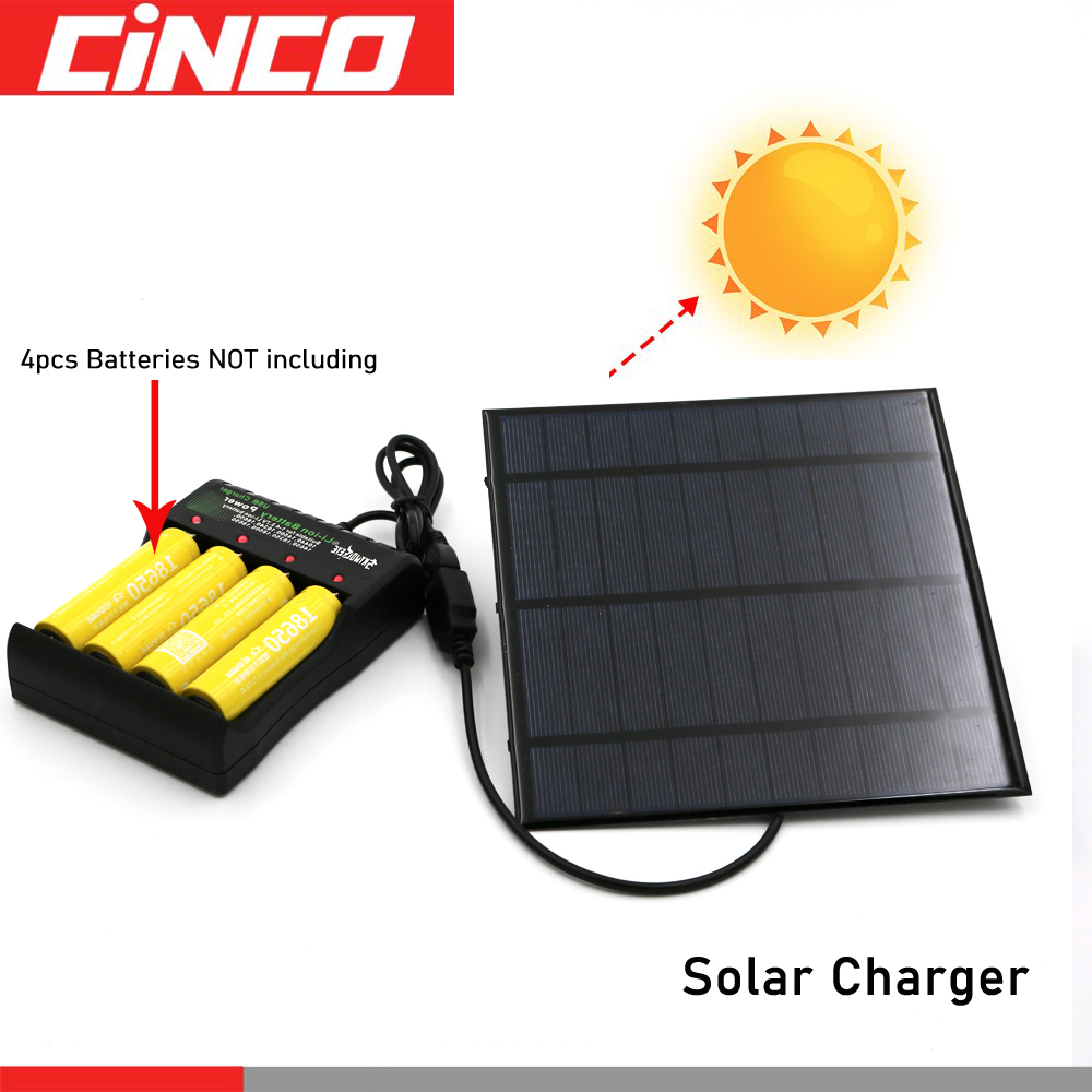 Solar Panel Universal 3.7V Battery Charger DC 5V 10440 18650 14500 26650 16650 Rechargeable Battery Charger Adapter USB Plug
