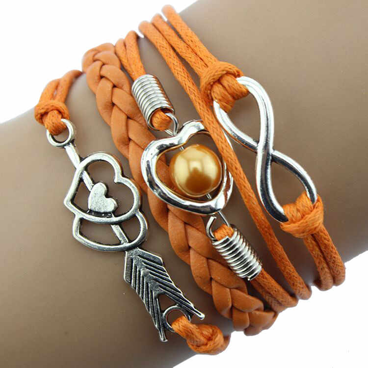 Бесплатная доставка, женские браслеты в форме сердца, ювелирное изделие, милое сердце с бесконечностью, жемчужный браслет в форме х для влюбленных женщин, девушек, на день рождения