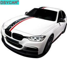 DSYCAR 1Set Carbon Fiber Car Styling Kapuze Haube Dach Hinten Stamm Streifen Seite Rock Stikers Vinyl Aufkleber Aufkleber für BMW