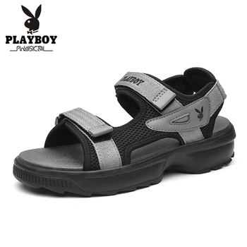 PLAYBOY New Men's Sandals Strap Athletic Men Shoes Waterproof Hiking Walking Beach Outdoor Summer Male Footwear PL613083