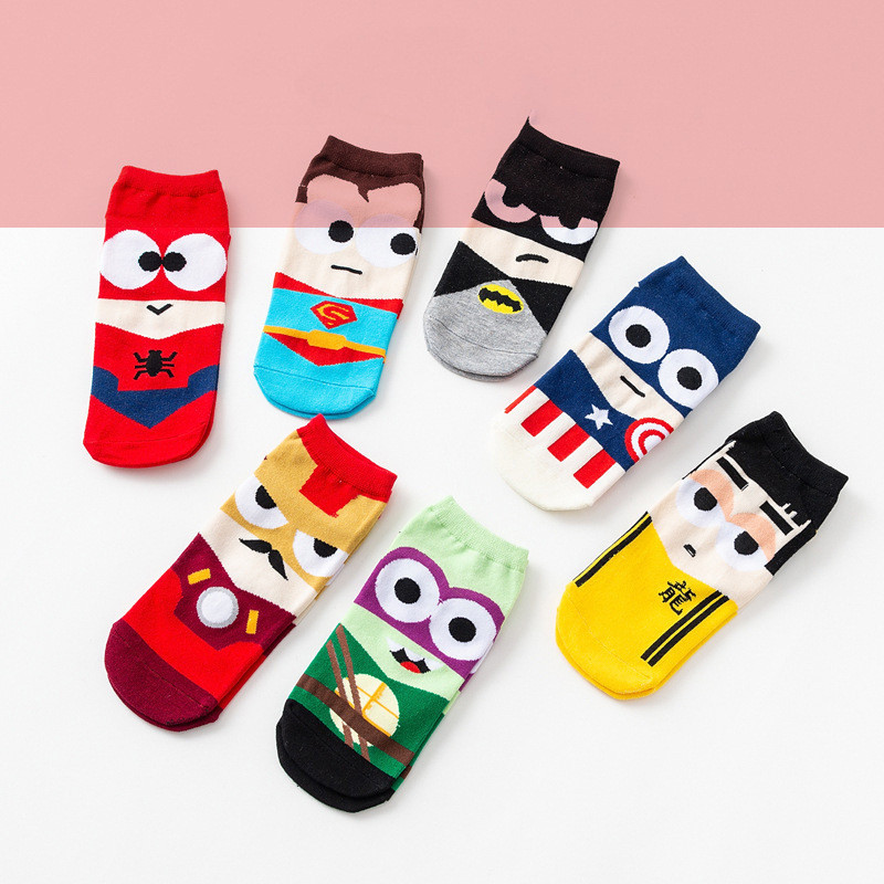 Colorful Women Men's Cotton Ankle Socks Invisible Low Cut Summer Casual Breathable Short Unisex Cool Funny Socks Gifts For Men