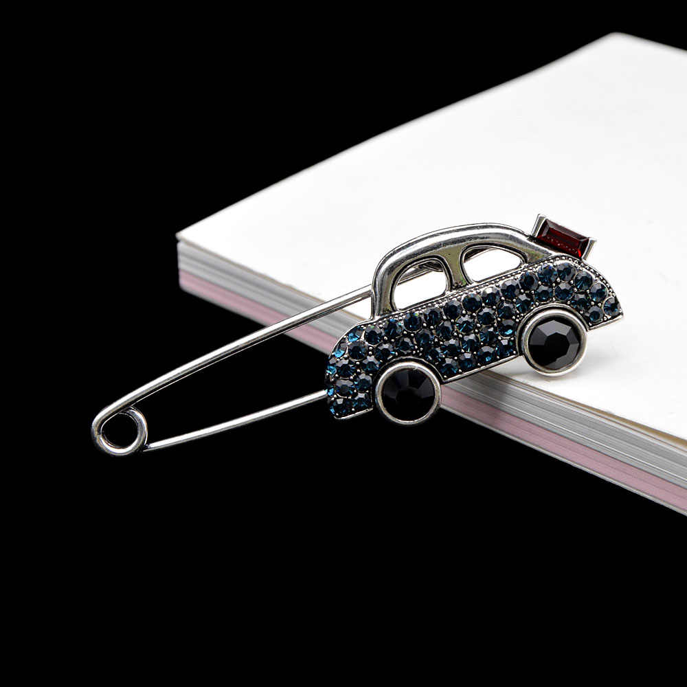 סינדי יאנג ריינסטון קטן רכב פין סיכות לנשים יצירתי עיצוב סיכת סוודר תכשיטי אביב הגעה חדשה מתנה