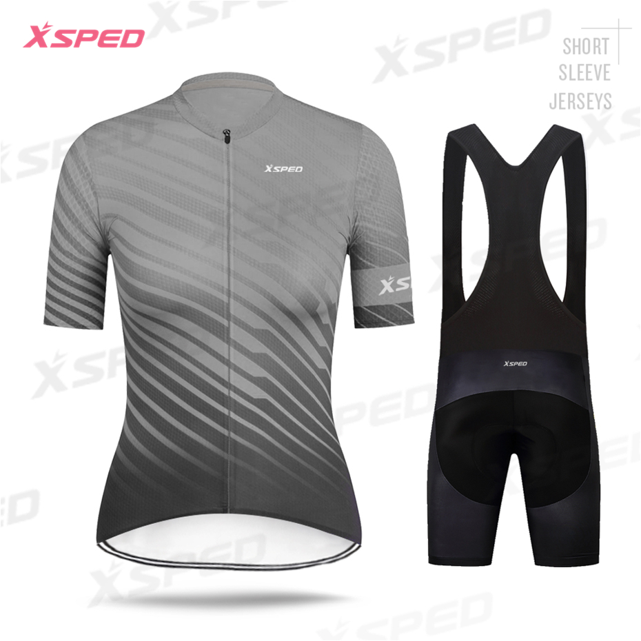 Cycling Jersey Lady Short Sleeve Set Women Cycling Clothing Fashion Leisure Dress Bike Cycle MTB Shirt Lady Breathable Quick-Dry