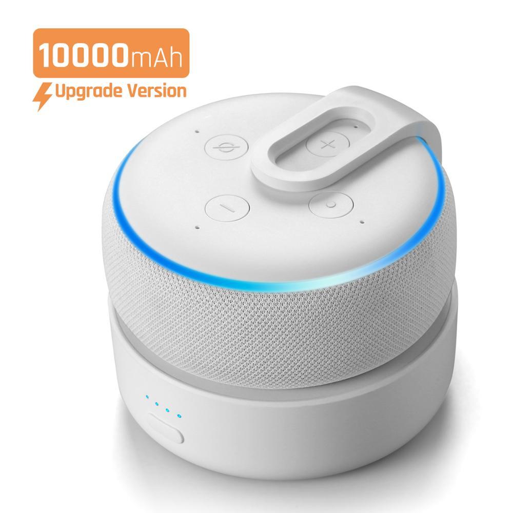 2020 Version GGMM D3+ Battery Base 10000mAh Charging Station For Amazon Echo Dot 3rd Gen Power Bank For Smart Speaker 16H Play