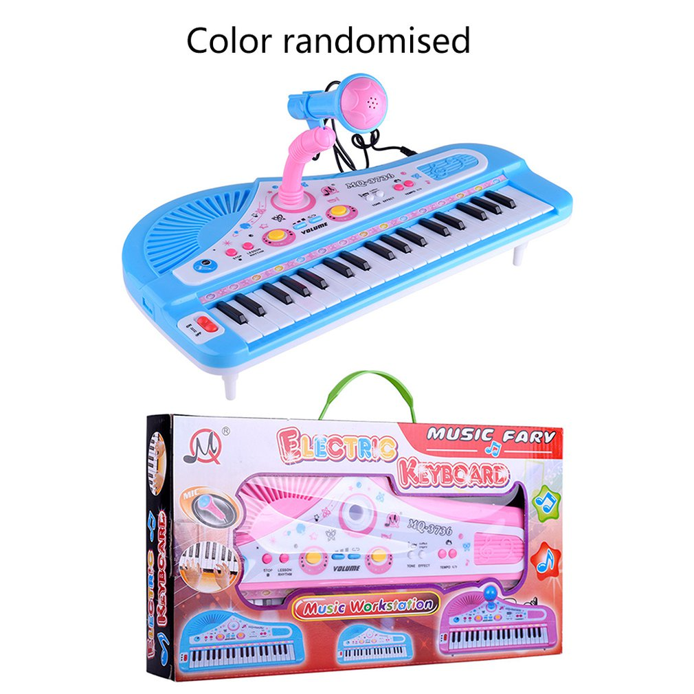 37 Key Children'S Electronic Keyboard Piano Organ Toy Set Microphone Music Play Kids Educational Toy Gift