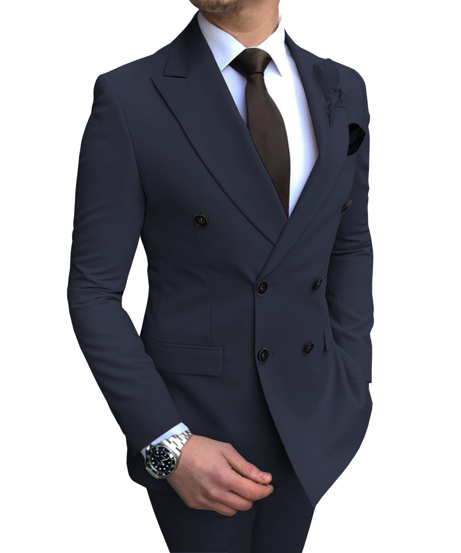 For Mens Slim Pants Suits Business Casual Fit Lapel Ivory Suit Green Grey Pieces Groomsmen Blazer Vest 2 Wedding Tuxedos