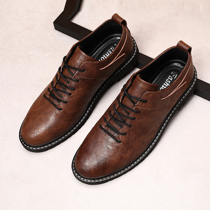 Loafer Shoe Men Casual Shoes Men Genuine Leather Top Quality Oxfords British Style Men Flats Dress Shoes Business Formal Shoes *