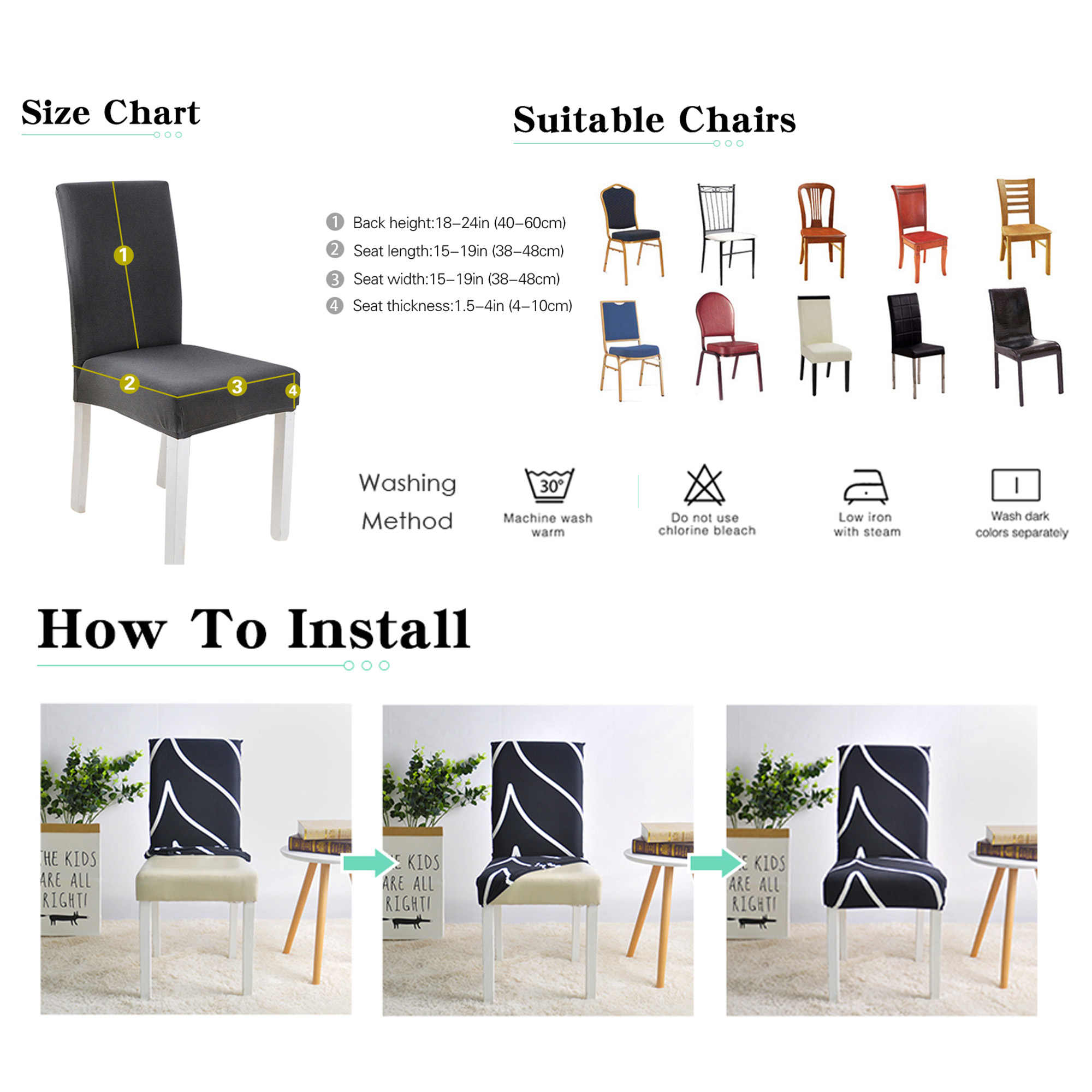 Stretch Spandex Chair Cover For Dining Room Wedding Party Elastic Multifunctional Furniture Covers Home Decor Solid Color