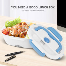 Portable Electric Heated Lunch Box 110/220V Bento Box Heating Food Container 4 Buckles 1.5L Food Warmer EU/US Car& Home Plug 1 5l 110 220v portable electric lunch box food grade bento lunch box heating food container 2 in 1 food warmer eu us car plug