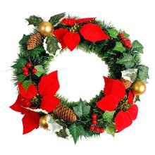 2020 Christmas Wreath Handmade Rattan Pendant Garland Shopping Mall Tree Door Decoration guirnalda navidad