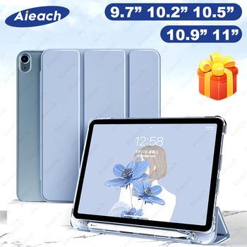Dla iPad powietrza 4 2020 etui z pojemnik na ołówki pokrywa dla iPad 10 2 8th 7th generacji 9 7 6th 5th Air 1 2 3 Pro 11 10 5 przypadku 2021 tanie i dobre opinie AIEACH Składane etui CN (pochodzenie) For iPad Air 4 Stałe 25 3cm Dla apple ipad Do iPada Air moda For iPad Air 4 2020 Case
