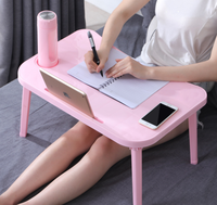 Portable Adjustable Foldable Folding Laptop Table Notebook Desk For Eating Studying On Sofa Bed Home Office Furniture LF716