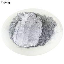 Pigmento en polvo de Color plateado súper brillante para decoración de alto grado, material de decoración de brillo, pintura en polvo plata, 50 g/lote