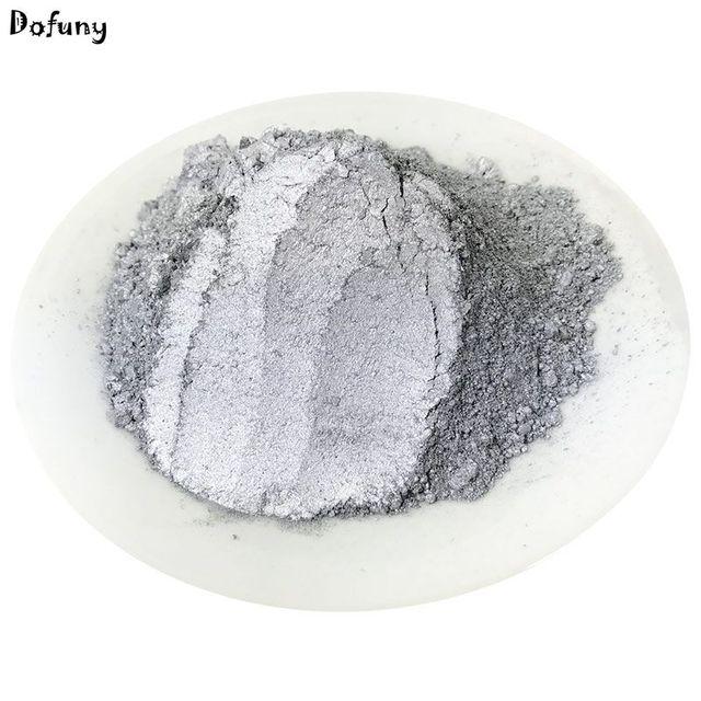 Super shiny silber Farbe pulver Pigment für Hohe Grade Dekoration, Glitter Dekorieren material, Farbe Pulver Silber, 50 gr/los