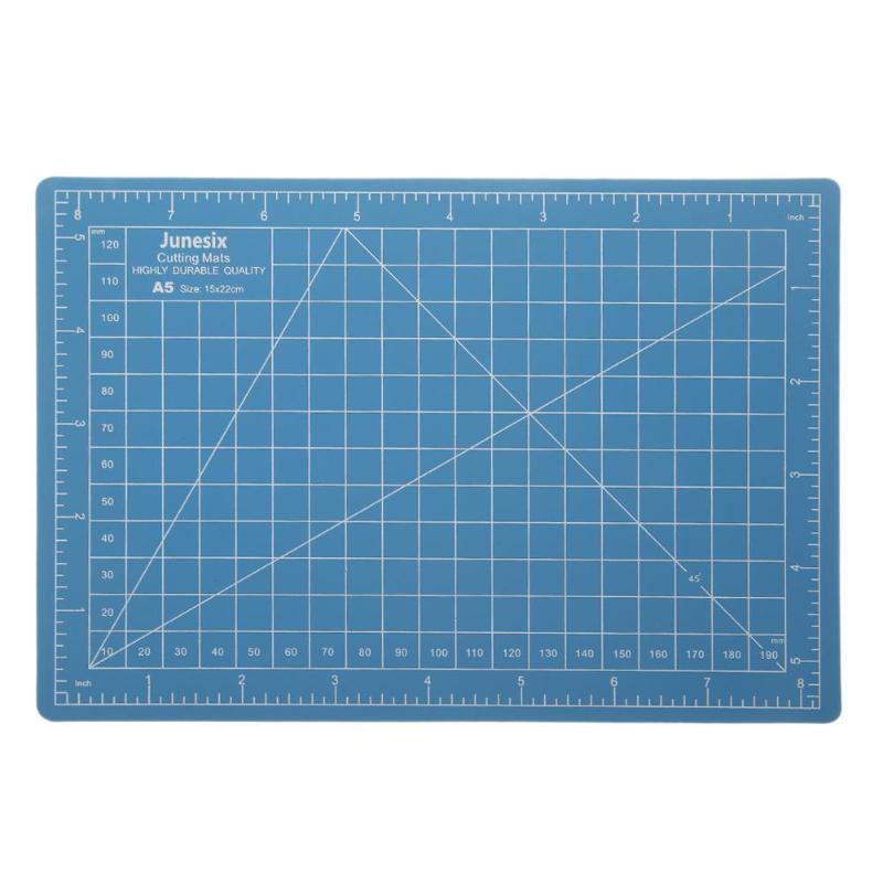 A5 PVC Cutting Mat Pad Patchwork Cut Pad A5 Patchwork Tools Manual DIY Tool Cutting Board Double-sided Self-healing