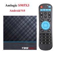 T95 MAX Plus Android caja de TV Android 9,0 Amlogic S905X3 Smart TV Box 4K Android caja de T95 MAX Quad Core 2,4G y 5G Wifi reproductor de medios