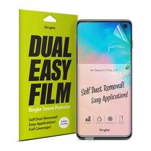 Ringke Screen Protector Dual Einfach Film für Galaxy S10 Plus Hohe Auflösung Einfache Anwendung Film [2 Pack]