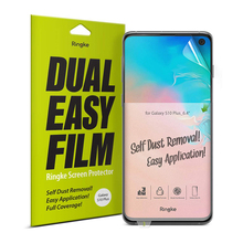 Ringke Screen Protector podwójny łatwy Film do Galaxy S10 Plus wysokiej rozdzielczości łatwy Film aplikacji [2 opakowanie]