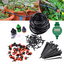 25m Watering Drip Irrigation System Kits Micro Drip Plants Automatic Spray Timer Garden Hose Adjustable Dripper Sprinkler(China)