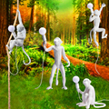 Современные светодиодные цветные подвесные светильники с изображением обезьяны  светильники из смолы  подвесные светильники из пеньки  Св...
