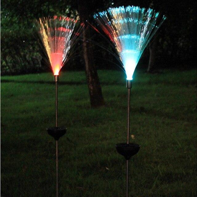 2 adet LED güneş su geçirmez açık alan aydınlatması renkli değişim güneş çim ışığı bahçe ışıkları noel düğün parti dekorasyon için