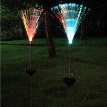 2Pcs LED 태양 빛 야외 방수 다채로운 변경 솔 라 잔디 빛 정원 조명 크리스마스 웨딩 파티 장식