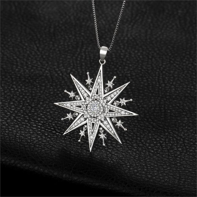 North Star Sterling Silver Pendant