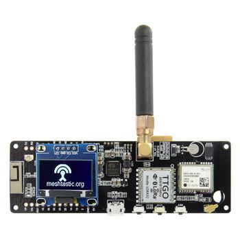 Darmowa wysyłka TTGO Meshtastic t-beam V1 1 ESP32 433 868 915 WiFi Bluetooth ESP32 GPS NEO-6M SMA 18650 uchwyt baterii z OLED tanie i dobre opinie Urządzenie wyświetlacza
