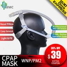 BMC WNP/PM2 Nasal Pillow CPAP Mask Silicone SML Size Cushion All In Medical Sleep Mask For Snoring And Apnea Treatment With belt