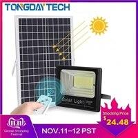 TONGDAYTECH Solar Light Motion Detected LED Floodlight 25W 40W 60W 100W Spotlight Solar Lamp IP66 Outdoor For Park Garage Street