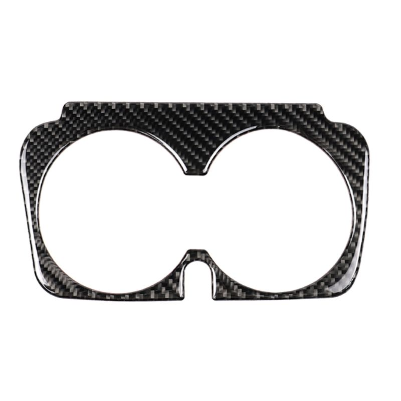 Car Styling Carbon Fiber Water Cup Holder Frame Trim Sticker For Mercedes Benz C Class new E class GLC <font><b>C200</b></font> <font><b>W205</b></font> C180 GLC260 image
