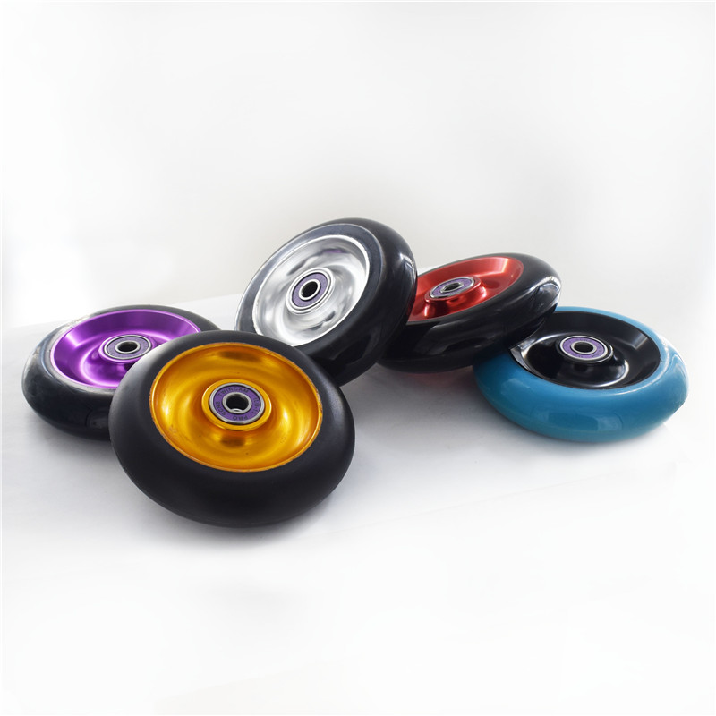 88A 100mm Scooter Wheel Aluminium Alloy Steel Hub High Elasticity And Precision Speed Skating Skateboard Wheel2 Pieces/lot