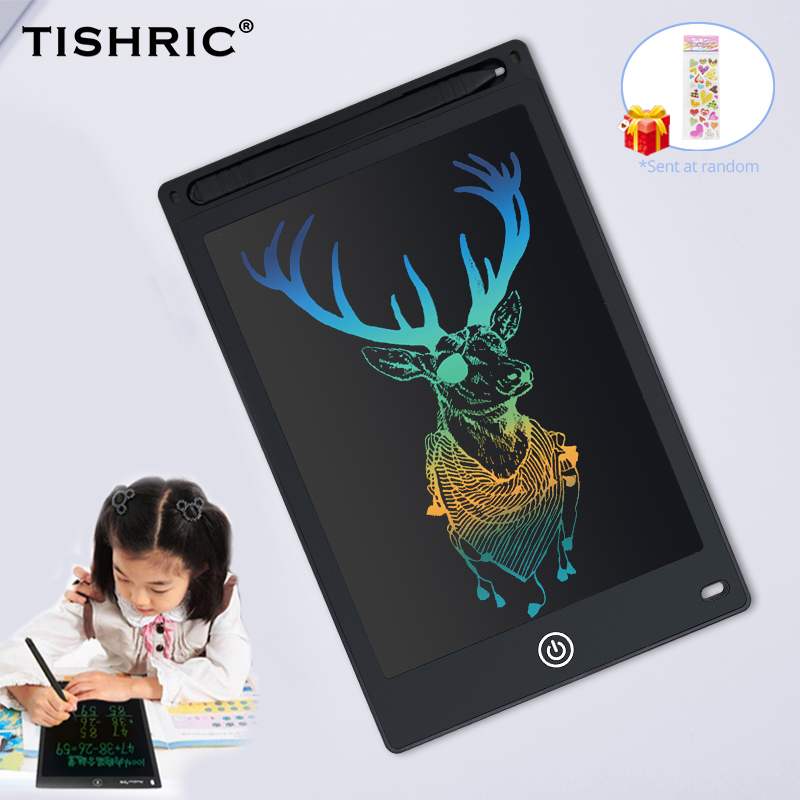 """TISHRIC 8.5/10/12"""" inch Kids Color Screen Digital Graphic Tablet ICD Drawing Board Writing Pad Stylus Pen Erasable for Education"""