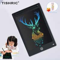 """TISHRIC 8,5/10/12 """"zoll Kinder Farbe Bildschirm Digital Graphic Tablet ICD Zeichnung Board Writing Pad Stylus stift Löschbaren für Bildung"""
