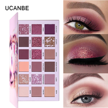 UCANBE NUDE Palette Eyeshadow Makeup Kit 18 Colors Glitter Shimmer Matte Pigmented Powder Smooth Natural Eye Shadow Cosmetics ucanbe brand 20 colors eyeshadow makeup palette shimmer matte radiant pigmented cosmetic eye shadow powder natural sexy eye set