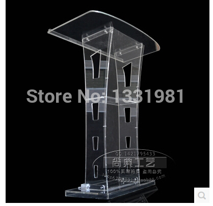 Hot SellingAcrylic Desktop Lectern / Acrylic Church Podiums / Acrylic Pulpit