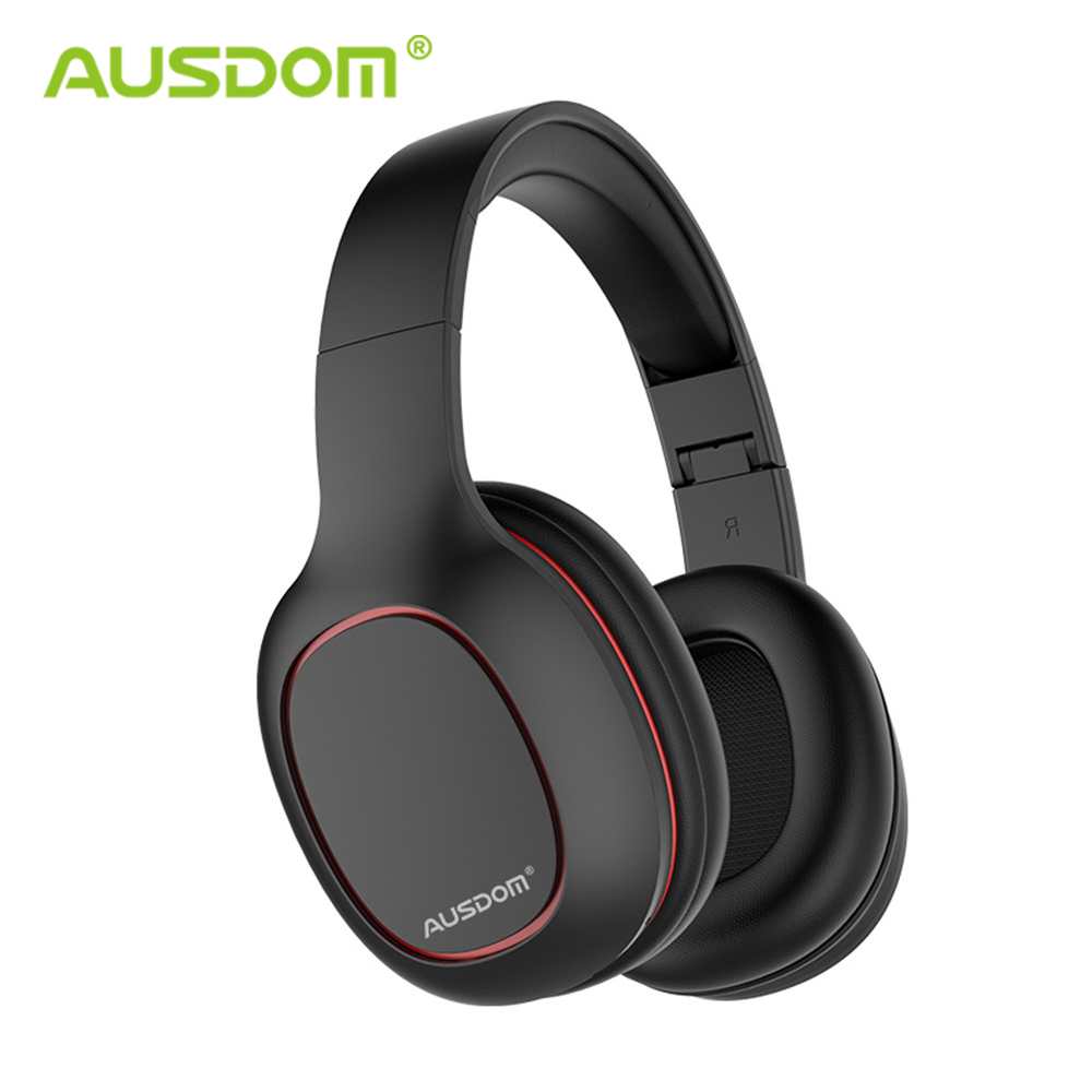 Ausdom M09 Wireless Headphones Bluetooth 4.2 Headset Foldable Deep Bass Bluetooth Headphone For IPhone Xiaomi Support TF Card