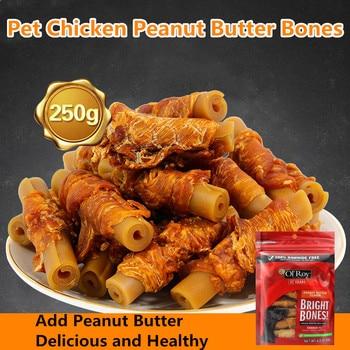 Dog Chicken Breast Strips Pet Snacks Chicken Butter Peanut Molar Stick Clean Teeth Bone Delicious Training Award Pet Supplies 1