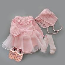 2020 Infant Christening Dress Newborn Baby Girl Clothes&Dresses Cotton Princess 0 3 6 12 Months Baby Baptism Dress