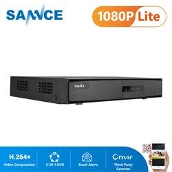 SANNCE 8-канальный сетевой видеорегистратор 1080P 5-в-1 безопасности DVR 1080P Гибридный CCTV видео Регистраторы 8CH под куполом для домашнего видеонаблю...