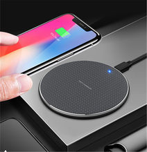 For iPhone 11 proXS MAX 10W Fast Wireless Charger Qi Quick Charging Wireless Phone Charger For Samsung Galaxy Fold S10 S10+ S10e(China)